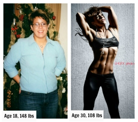 Before Weight Collage
